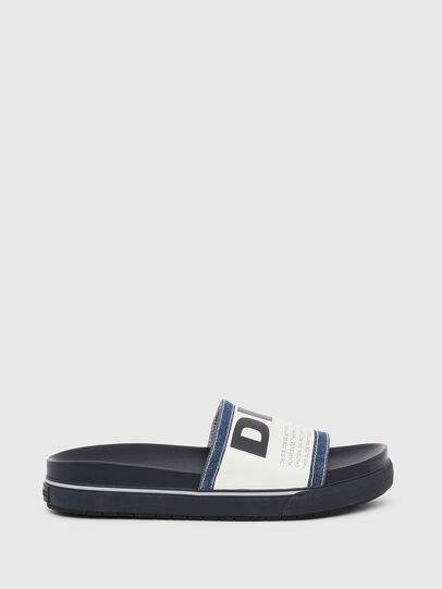 Diesel - SA-GRAND SLIDE, Blue/White - Slippers - Image 1