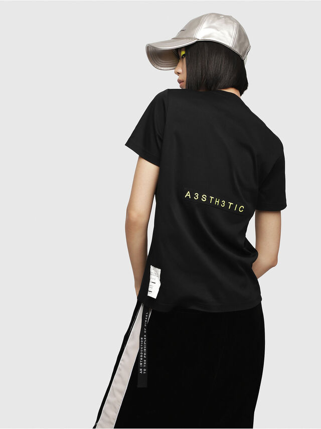 Diesel - T-SILY-WC, Black - T-Shirts - Image 2