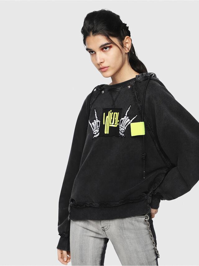 Diesel - F-CAROL, Black - Sweaters - Image 1