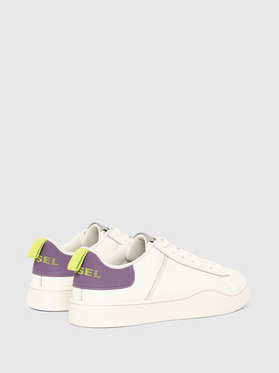Diesel - S-CLEVER LOW LACE W, White/Violet - Sneakers - Image 3