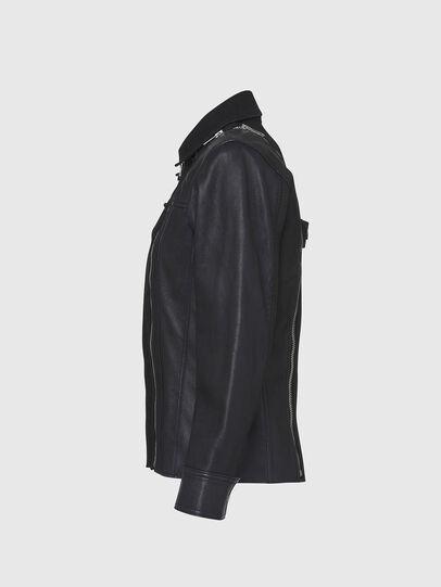 Diesel - L-LAZAY, Black - Leather jackets - Image 3