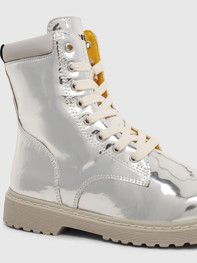 Diesel - HB LACE UP 04 YO, Silver - Footwear - Image 4
