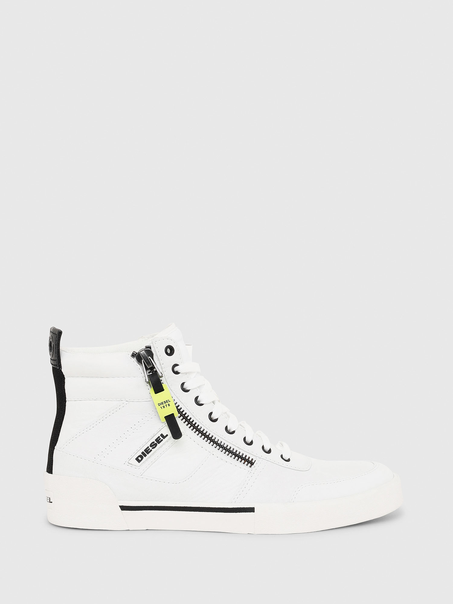 High-top sneakers in panelled suede