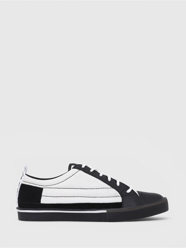 Diesel - D-VELOWS LOW PATCH, Black/White - Sneakers - Image 1