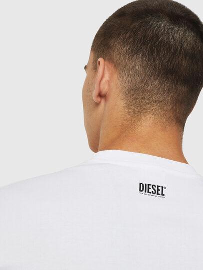 Diesel - T-DIEGO-B12, White - T-Shirts - Image 4