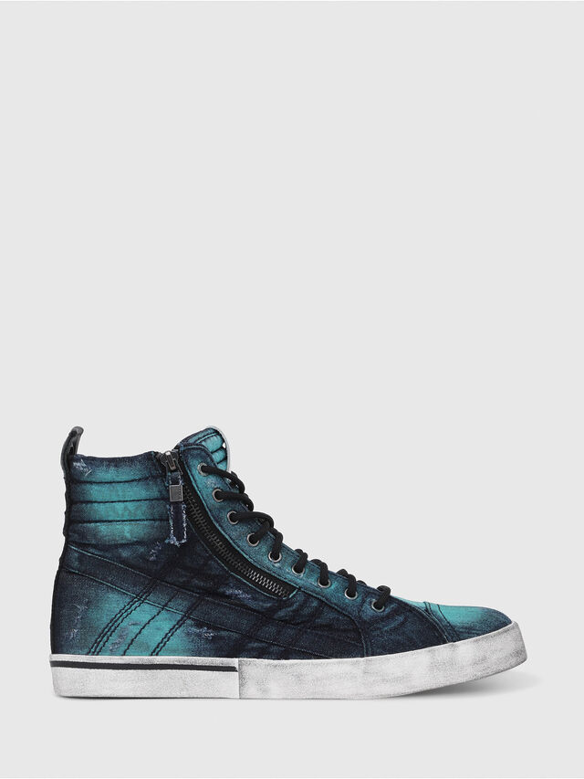 Diesel - D-VELOWS MID LACE, Turquoise - Sneakers - Image 1