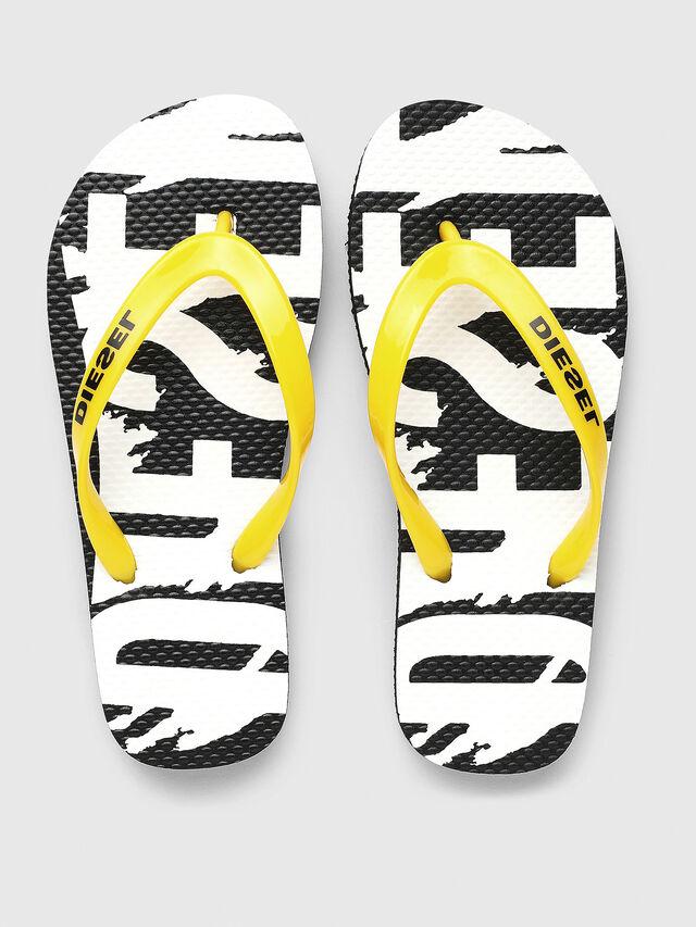 Diesel - FF 22 FLIPPER CH, Black/White - Footwear - Image 2