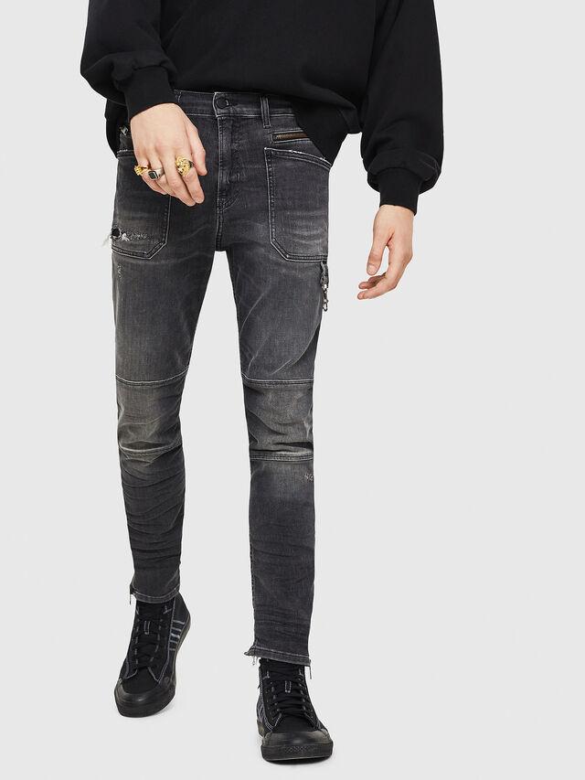 Diesel - D-Phormer 069DM, Black/Dark grey - Jeans - Image 1