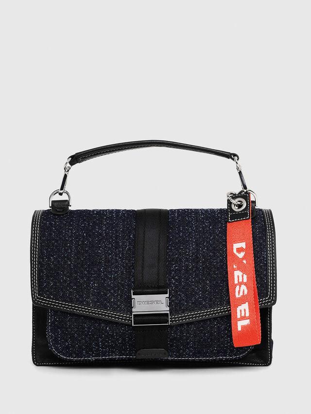 Diesel - MISS-MATCH CROSSBODY, Blue Jeans - Crossbody Bags - Image 1