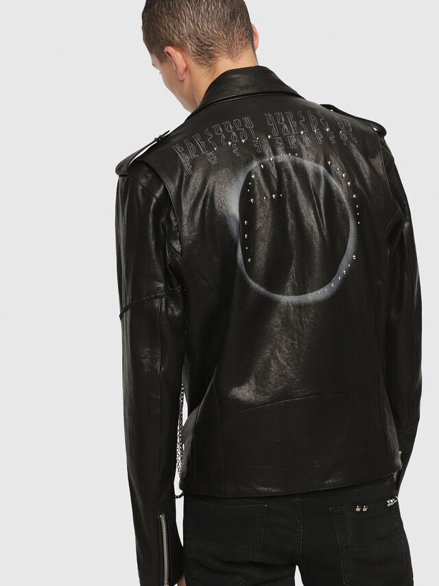 Diesel - SE-LEANDRO, Black Leather - Leather jackets - Image 2