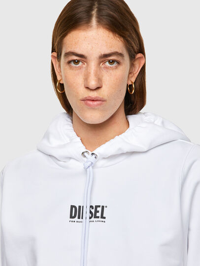 Diesel - F-ANG-HOOD-SMALLOGO, White - Sweaters - Image 3