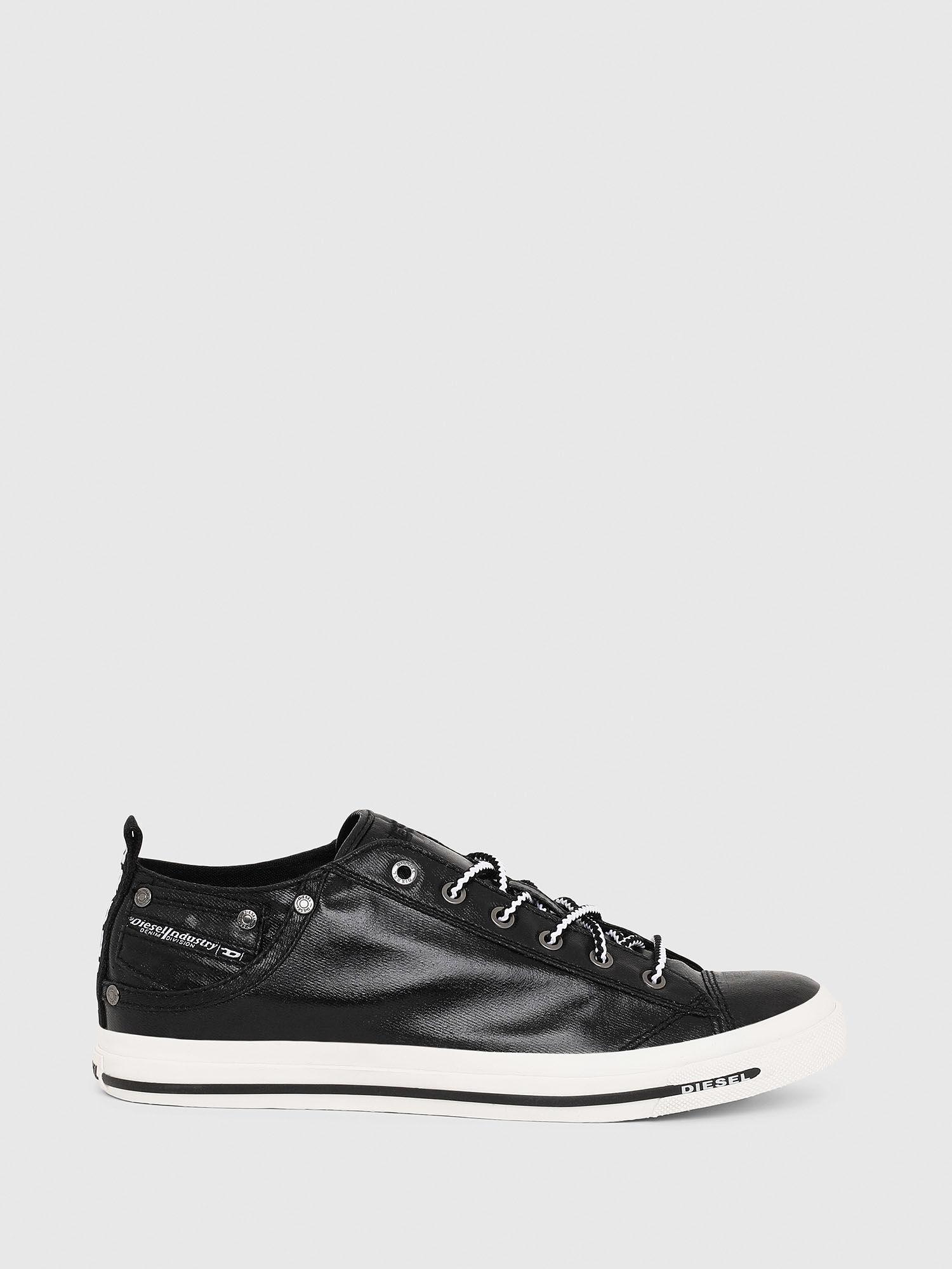Low top sneakers in coated denim | Diesel