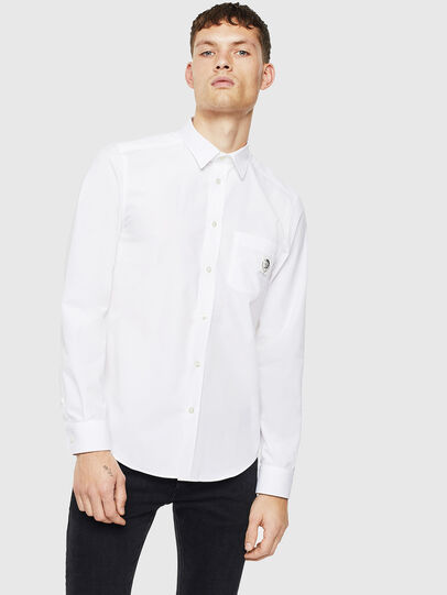 Diesel - S-BILL-POCKET, White - Shirts - Image 1