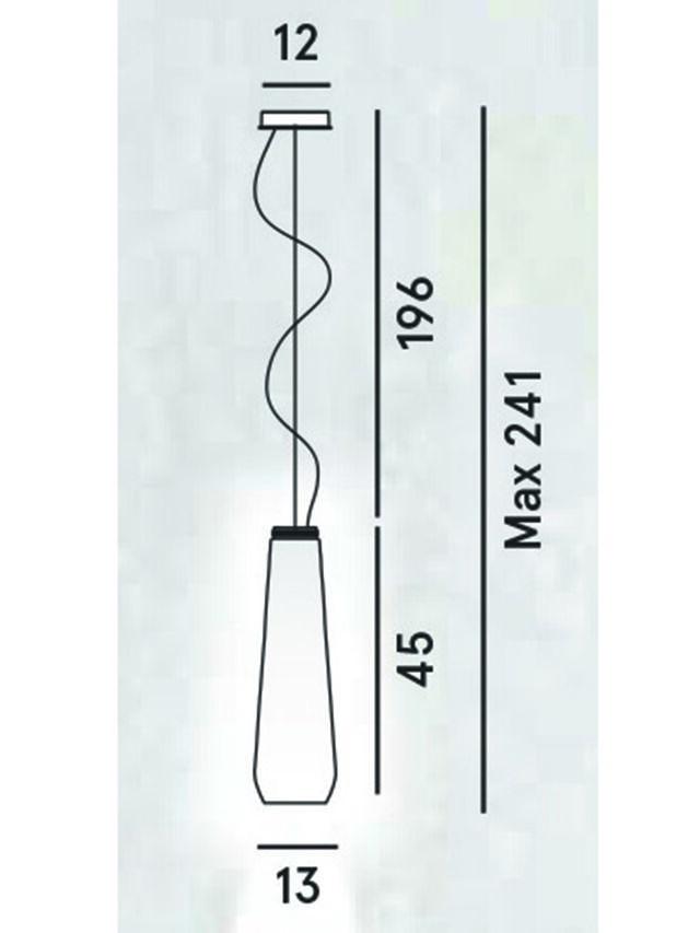 Living GLAS DROP, Grey - Hang Lighting - Image 2