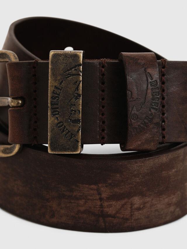 Diesel - B-FRAG, Brown Leather - Belts - Image 2