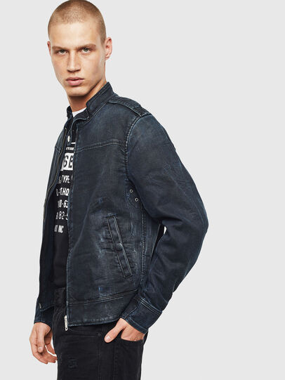 Diesel - D-JEI JOGGJEANS, Dark Blue - Denim Jackets - Image 4