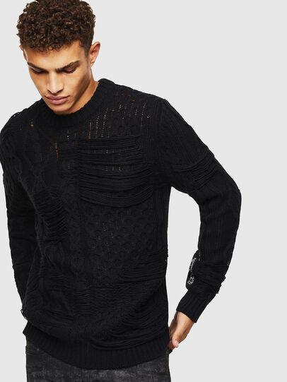Diesel - K-BRIGLY, Black - Knitwear - Image 1
