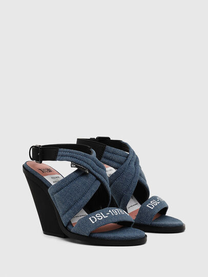 Diesel - SA-FLAMINGO XR, Blue Jeans - Sandals - Image 2
