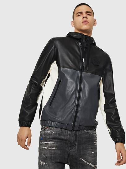 Diesel - L-CARR, Black - Leather jackets - Image 6