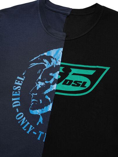 Diesel - D-MESO&MESO, Blue/Black - T-Shirts - Image 3