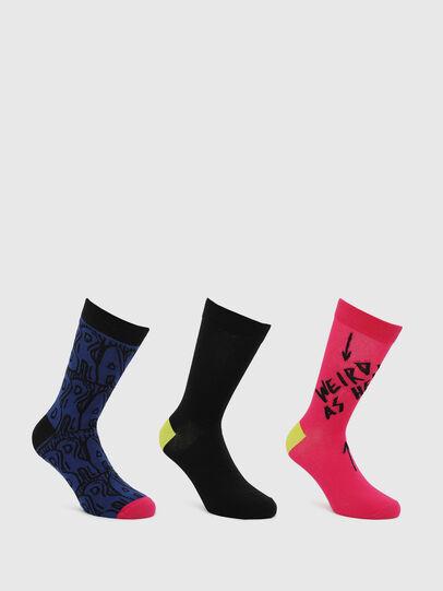 Diesel - SKM-HERMINE-THREEPAC, Black/Red - Socks - Image 1