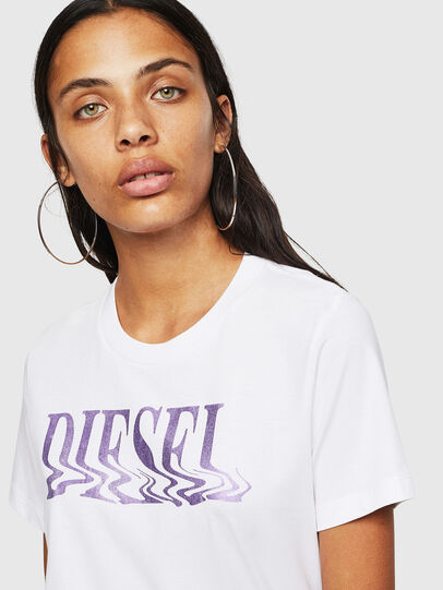 Diesel - T-SILY-WN, White/Pink - T-Shirts - Image 3
