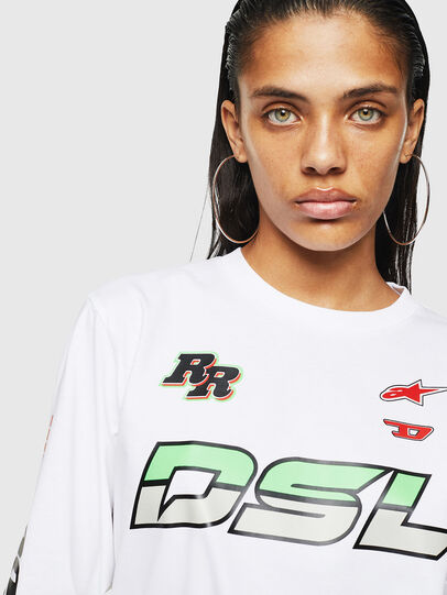 Diesel - ASTARS-T-JUST-LONG-F, White - T-Shirts - Image 3