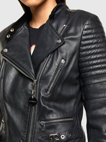 Diesel - L-IGE-NEW-A, Black - Leather jackets - Image 3