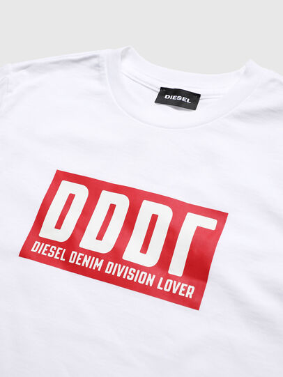 Diesel - TJUSTA9, White - T-shirts and Tops - Image 3