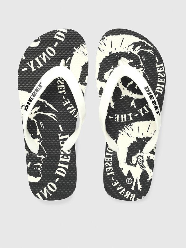 Diesel - FF 22 FLIPPER CH, White/Black - Footwear - Image 2