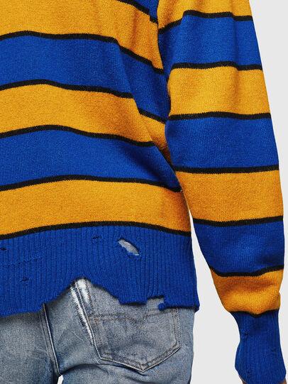 Diesel - K-LOVERY, Blue/Yellow - Knitwear - Image 6