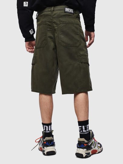 Diesel - D-KRETT-SHORT JOGGJEANS, Military Green - Shorts - Image 2