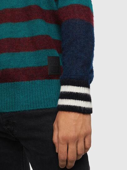 Diesel - K-BOH, Blue/Red - Knitwear - Image 3