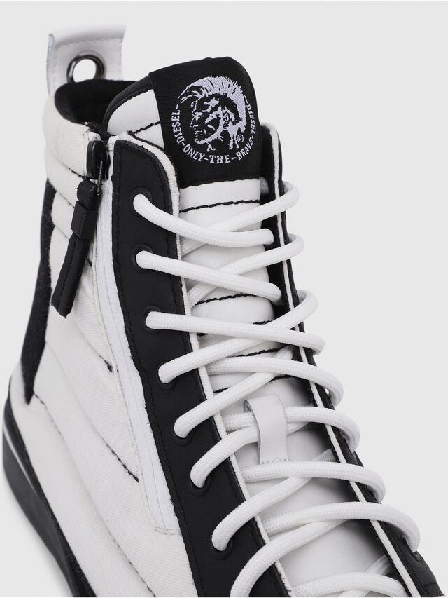 Diesel - D-VELOWS MID PATCH, White/Black - Sneakers - Image 5