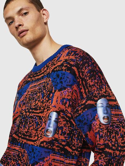 Diesel - K-FACE, Red/Blue - Knitwear - Image 4