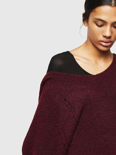 Diesel - M-MARIKAX, Burgundy - Knitwear - Image 4