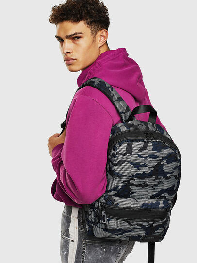 Diesel - MIRANO, Grey/Blue - Backpacks - Image 8