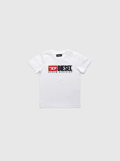 Diesel - TJUSTDIVISIONB-R, White - T-shirts and Tops - Image 1