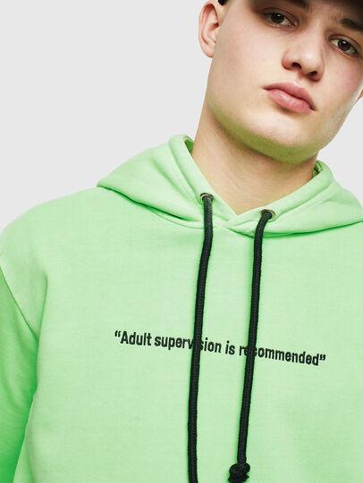 Diesel - S-GIRK-HOOD-FLUO, Green Fluo - Sweaters - Image 5