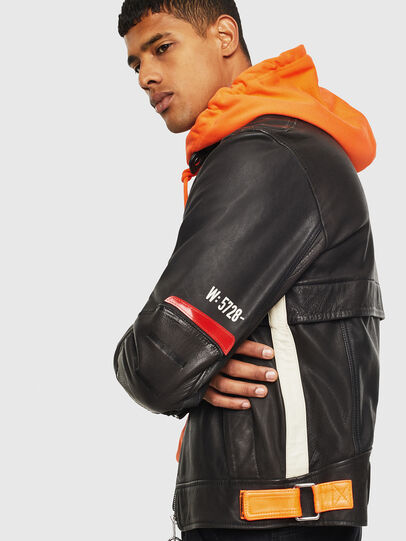 Diesel - L-DIXON, Black - Leather jackets - Image 4