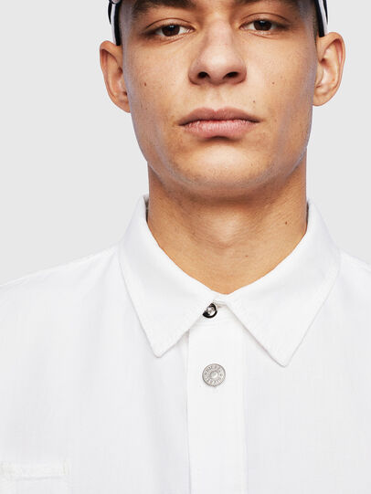 Diesel - D-FLOX, White - Denim Shirts - Image 3