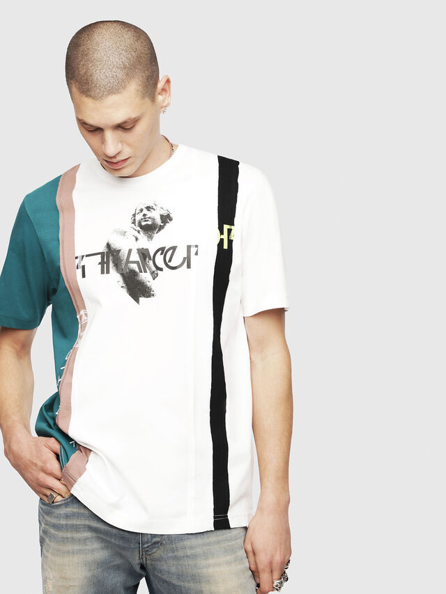 Diesel - T-JUST-SPACE-A, White - T-Shirts - Image 1