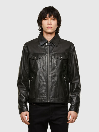 Diesel - L-PAD, Black - Leather jackets - Image 1
