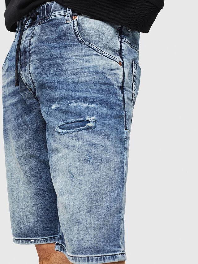 Diesel - D-KROOSHORT JOGGJEANS, Blue Jeans - Shorts - Image 3