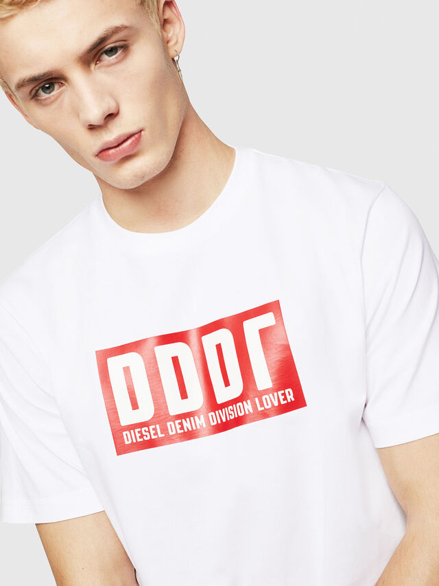 Diesel - T-JUST-A9, White - T-Shirts - Image 3