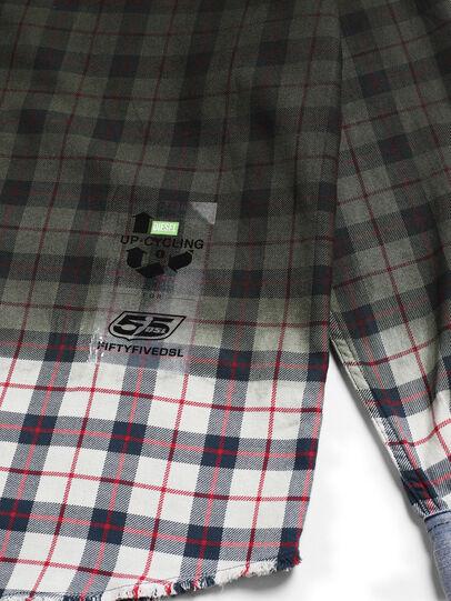 Diesel - D-DEEPCHECK-B, Green - Denim Shirts - Image 5