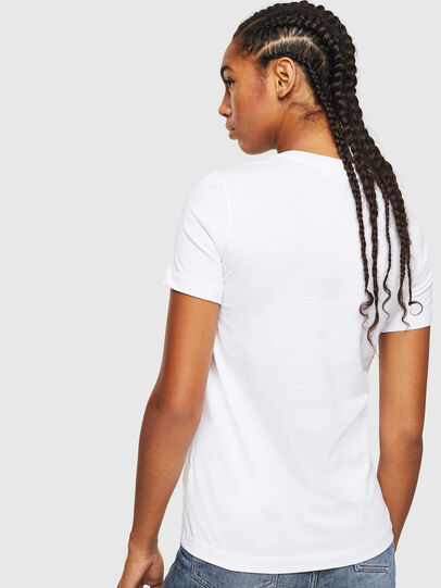 Diesel - T-SILY-YD, White - T-Shirts - Image 2