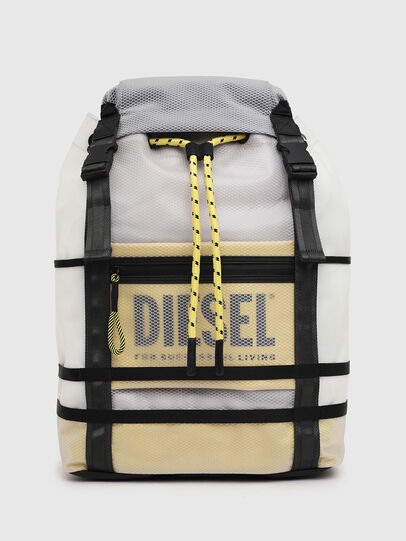 Diesel - F-SUSE BACKPCK, White/Yellow - Backpacks - Image 1