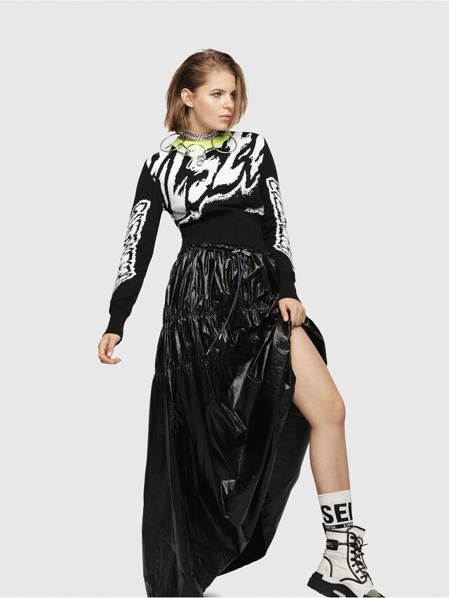 Diesel - M-SCOT, Black/White - Knitwear - Image 4