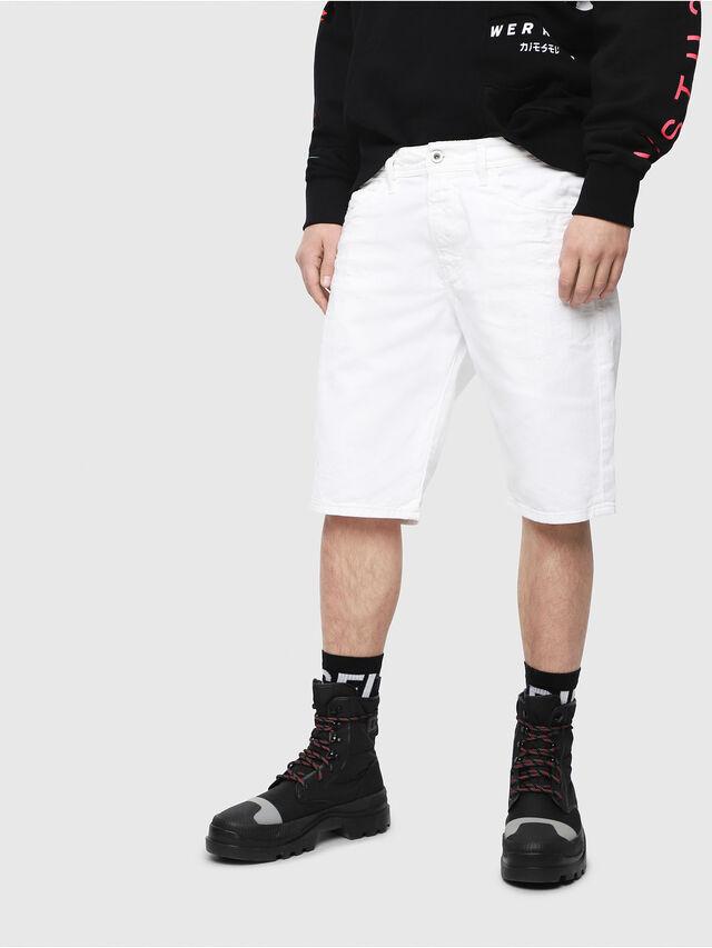 Diesel - THOSHORT, White - Shorts - Image 1